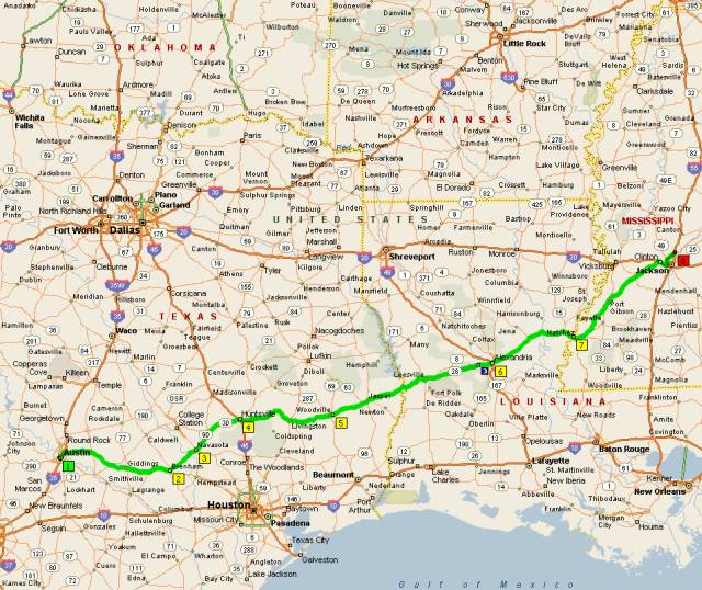 Map Of Texas Louisiana And Mississippi.The Rounder Round Up Three The Truth